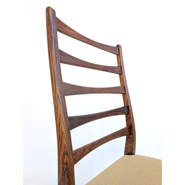 1960s Danish Modern Svegards Markaryd Rosewood Ladder Back Dining Chairs - Set of 4 For Sale - Image 10 of 13