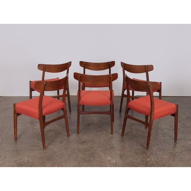 Carl Hansen & Søn Set of Six Hans J. Wegner Ch-23 Dining Chairs For Sale - Image 4 of 11