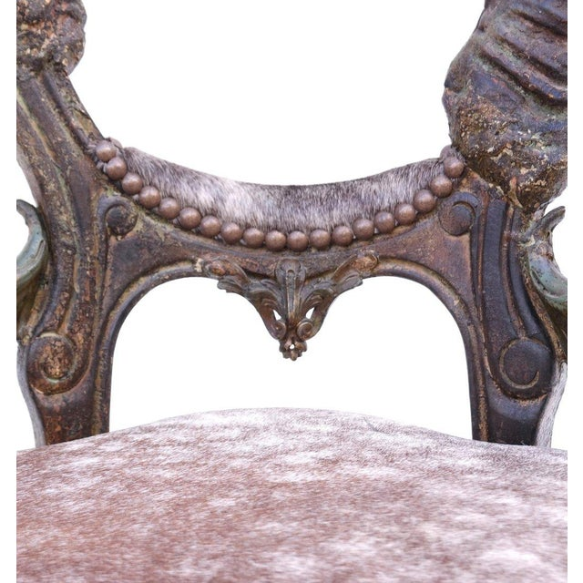 Horn Form Viking Style Side Chair - Image 5 of 8
