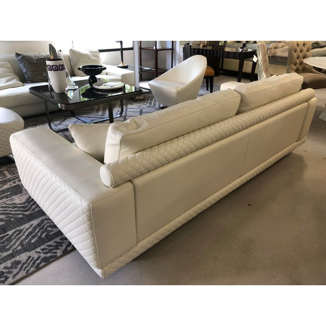 21st Century C&b Italia Gurian White Leather Italian Sofa
