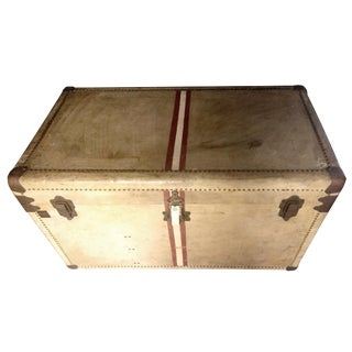 Antique Studded Timber Storage Trunk For Sale