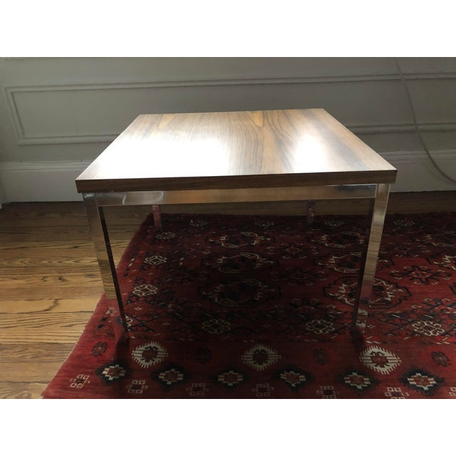 1960s Knoll-Style Chrome Plate & Laminate Side/Coffee Table For Sale - Image 5 of 5