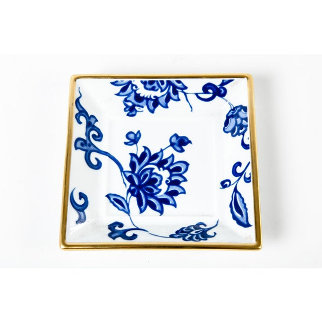 Asian Vintage French Porcelain Decorative Catch All Trays - Set of 3 For Sale - Image 3 of 5