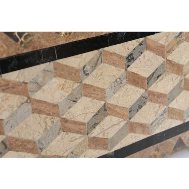 English Regency Revival 1980s Tessellated Stone Box For Sale - Image 9 of 11