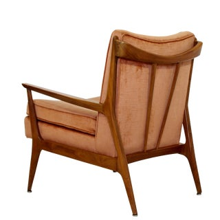 1960s Mid Century Modern Paul McCobb Style Angular Sculptural Lounge Armchair For Sale
