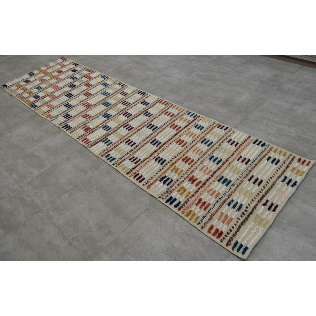Hand Knotted Oushak Runner Rug - 2′8″ X 9′10″ - Image 2 of 10
