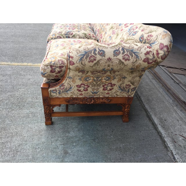 Chinese Chippendale Carved Camelback Sofa - Image 4 of 11