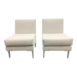 Design Within Reach Ivory Slipper Chairs - a Pair For Sale