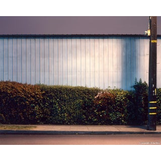 'Wall and Hedge' Night Photograph by John Vias