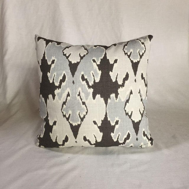 Kim Salmela Brown/ & Gray Ikat Pillow - Image 3 of 3