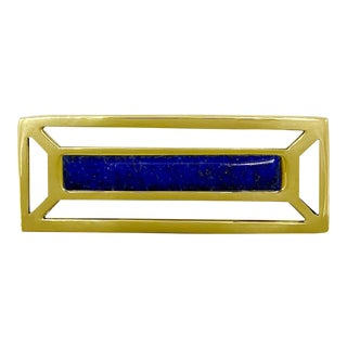 Addison Weeks McCoy Pull, Brass & Lapis For Sale