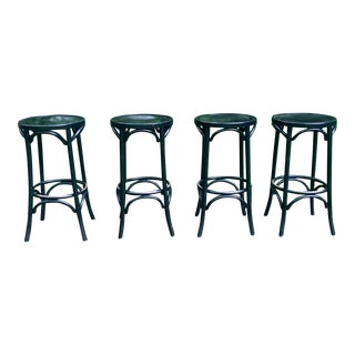 Bentwood Bar Stools - Set of 4 For Sale