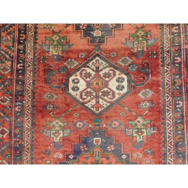 Antique Persian Karaja Runner - 3′7″ × 14′ - Image 7 of 10