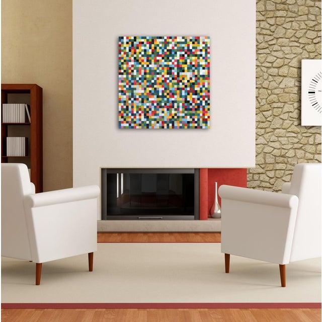 "Canvas ""1296 Squares"" Original Artwork by Brandon Neher For Sale - Image 7 of 9"