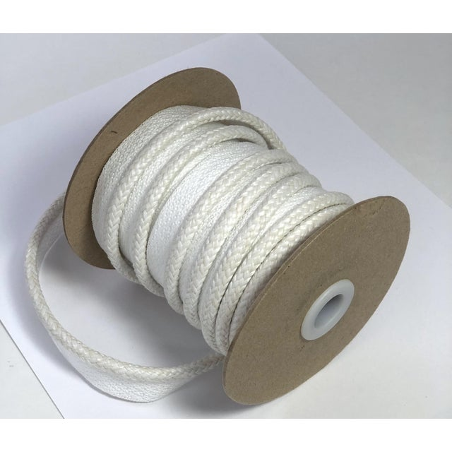 """Ivory Braided 1/4"""" Indoor/Outdoor Cord For Sale - Image 8 of 9"""