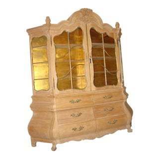Antique Breakfront China Display Cabinet For Sale