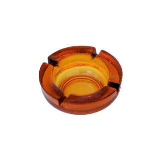 Amber Glass Ashtray For Sale