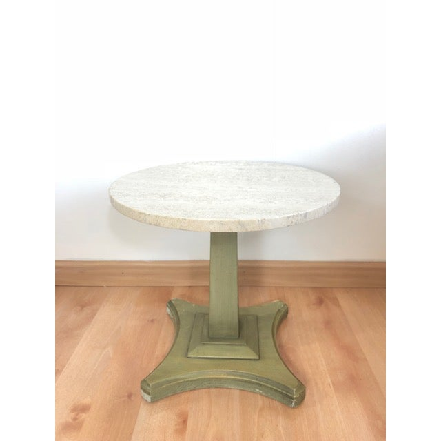 Vintage Italian Travertine Table For Sale In San Francisco - Image 6 of 6