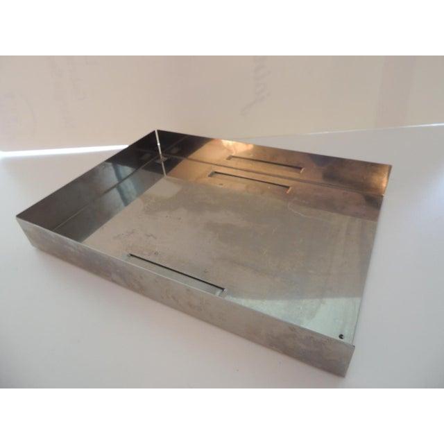 Mid-Century Modern Mid-Century Modern Style Chrome Desk Inbox Tray For Sale - Image 3 of 6