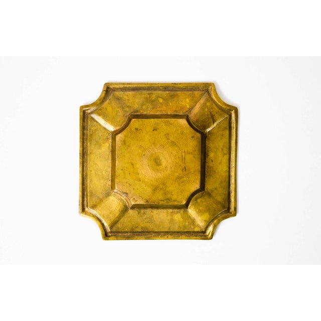 20th Century Art Deco Brass Catchall For Sale - Image 4 of 5