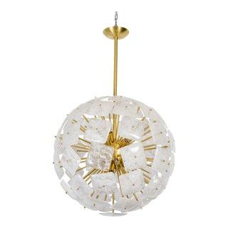 """Large Sputnik Rock Crystal Chandelier """"Nova"""", Limited Edition For Sale"""