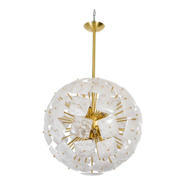 "Large Sputnik Rock Crystal Chandelier ""Nova"", Limited Edition For Sale"