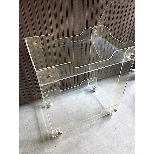 Mid-Century Lucite Bar Cart - Image 3 of 6