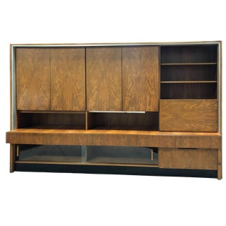 1960s Monumental Teak Wall Unit Custom Made in Germany For Sale