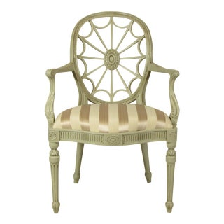 19th C. English Painted Armchair