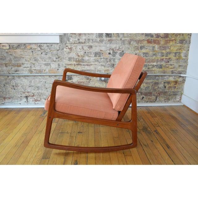 Danish Modern Ole Wanscher Danish Modern Teak Rocking Chair For Sale - Image 3 of 9