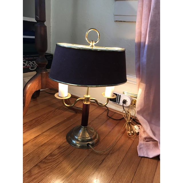 1940s Vintage Double Candle Bouillotte Lamp For Sale - Image 6 of 12