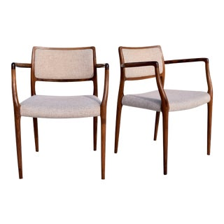 Neils Moller Dining Armchairs - A Pair For Sale
