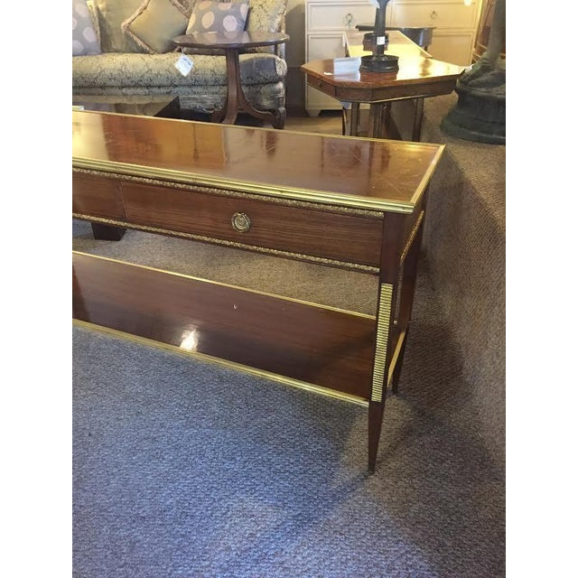 Two Drawer Bronze Mounted Console Tables - Pair - Image 3 of 8
