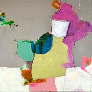 "Original Mixed Media Painting by Gina Cochran ""Hand Jive"" For Sale"