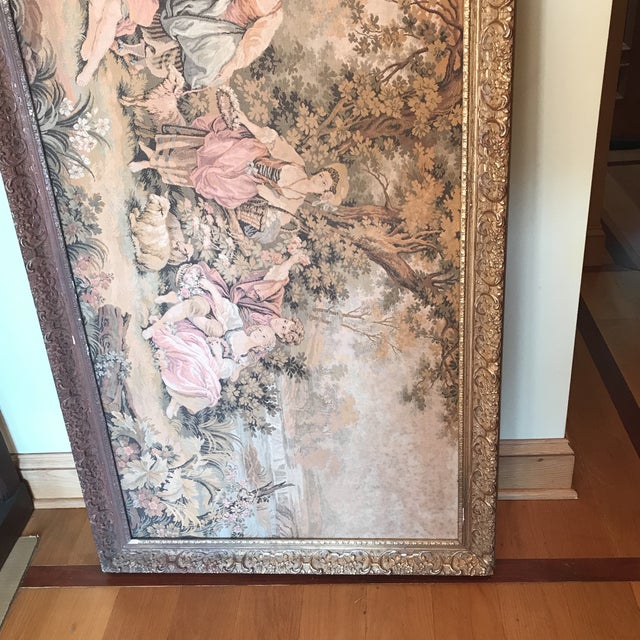 Fantastic piece at a very reasonable price. Our opinion is the frame should be restored or replaced but the tapestry is in...