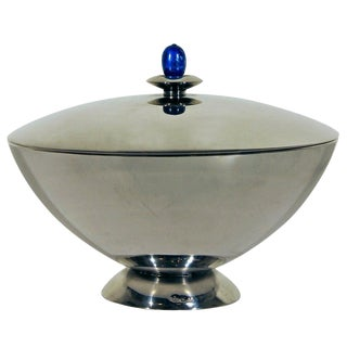 1950´s J. & A. Torres Silver Sweet Box, lapis lazuli cabochon - Spain For Sale