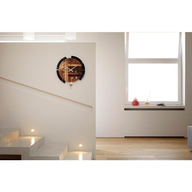 2020s ArosioMilano Samada Brown Wall Clock For Sale - Image 5 of 9