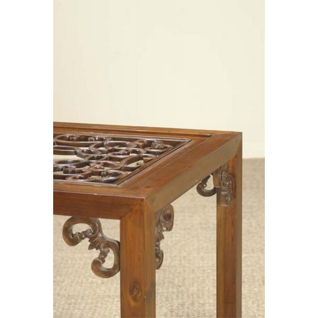 Carved Side Table from China For Sale - Image 4 of 6