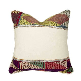 Rana Tribal Lace Pillow For Sale
