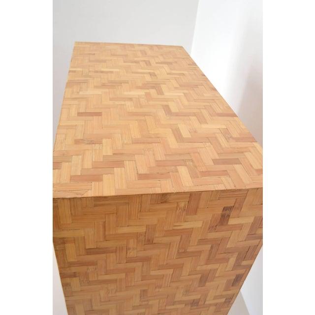 Wicker Midcentury Two-Door Rattan Cabinet For Sale - Image 7 of 11