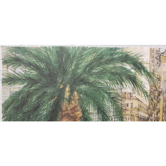 "Watercolor Franklin McMahon ""Powell Street, San Francisco"" Original Watercolor C.1981 For Sale - Image 7 of 10"