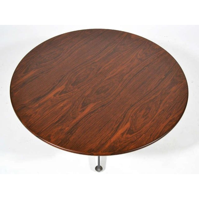 Ward Bennett Rosewood and Aluminum Coffee Table by Lehigh For Sale - Image 11 of 11
