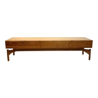 1950s Mid-Century Modern Greta Grossman for Glenn of California Low Floating Console Table For Sale