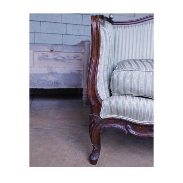 Italian Louis XV Style Walnut Sofa For Sale - Image 4 of 13
