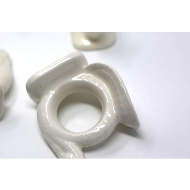 Vintage Handmade Ceramic Turkey Napkin Rings - Set of 8 Thanksgiving Tableware For Sale - Image 10 of 13