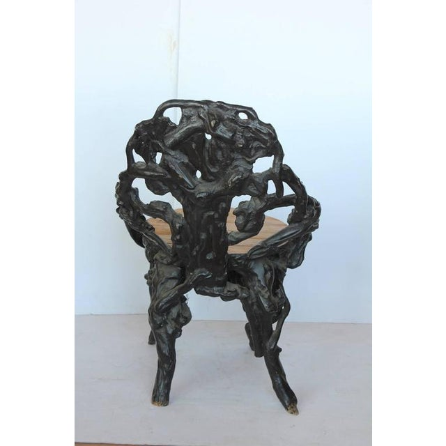 Black Forest Early 20th C. Antique Black Forest Chair For Sale - Image 3 of 4