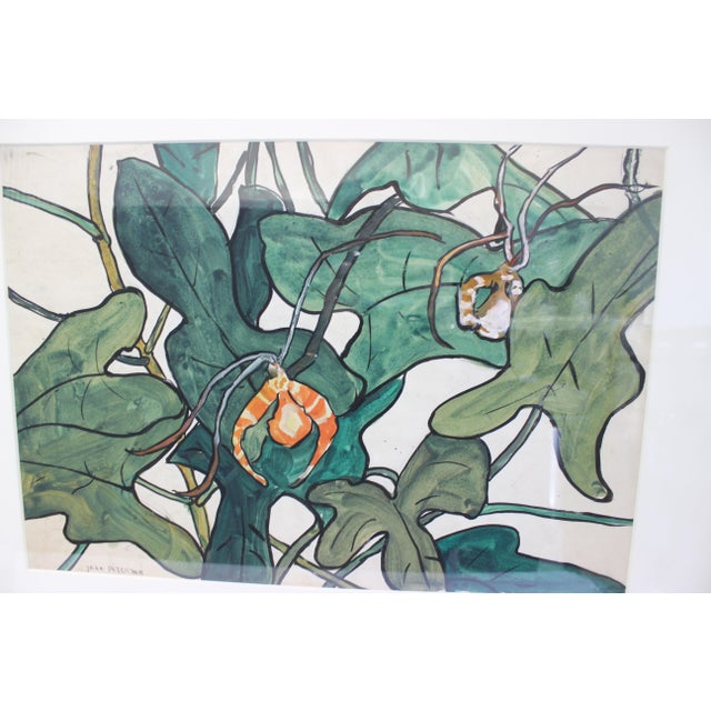 """Vintage Jane Peterson Watercolor Painting """"Spider Orchid"""" For Sale In West Palm - Image 6 of 13"""