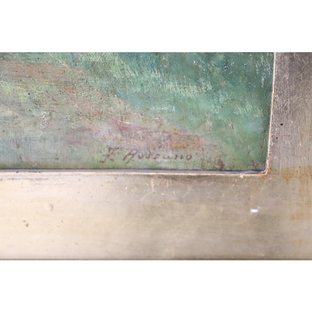 Mid 19th Century 19th Century Important Italian Artist Oil Painting on Canvas Landscape For Sale - Image 5 of 8