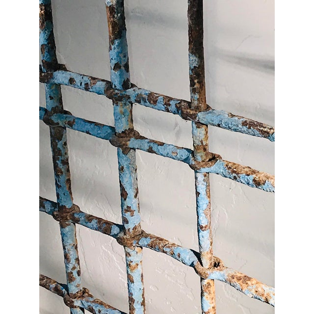 1920s Abstract Architectural Iron Sculpture Wall Hanging For Sale - Image 4 of 9