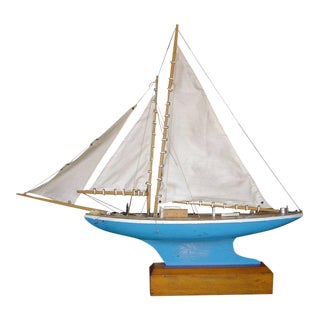 English Pond Sail Boat With Stand For Sale